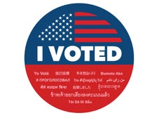 "L.A. County ""I Voted"" sticker"
